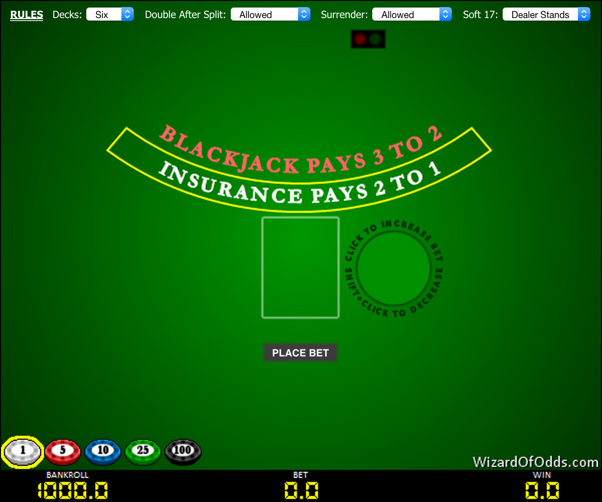 Virtual blackjack table - Blackjack Game