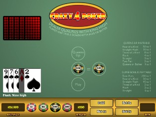 free crazy 4 card poker