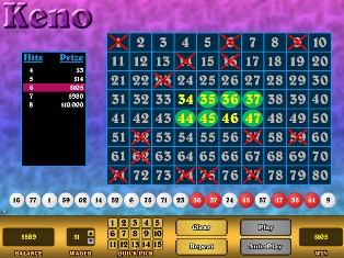 free superball keno games no download