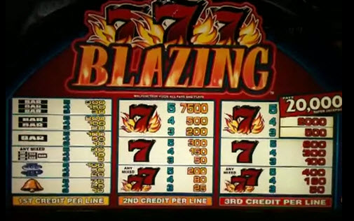 blazing 777 slot machine free