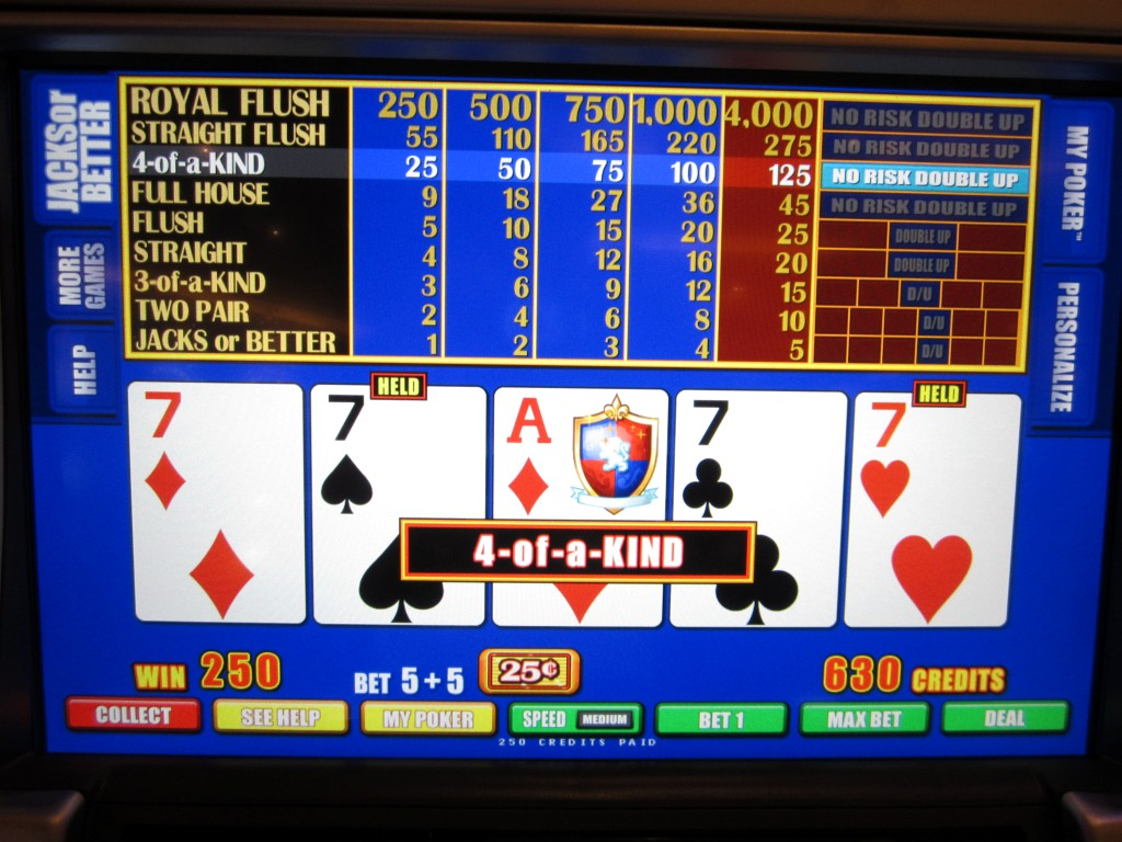 Video poker 5 of a kind online blackjack player edge