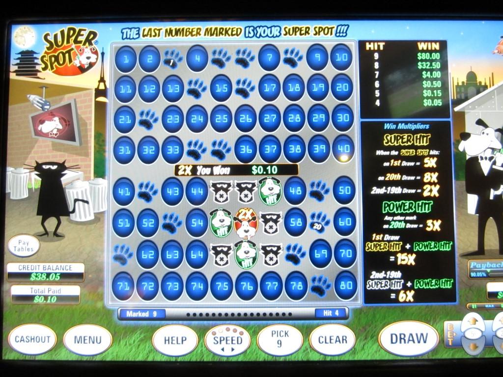 7 spot keno odds
