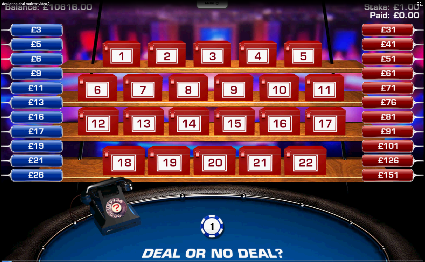 deal or no deal rules