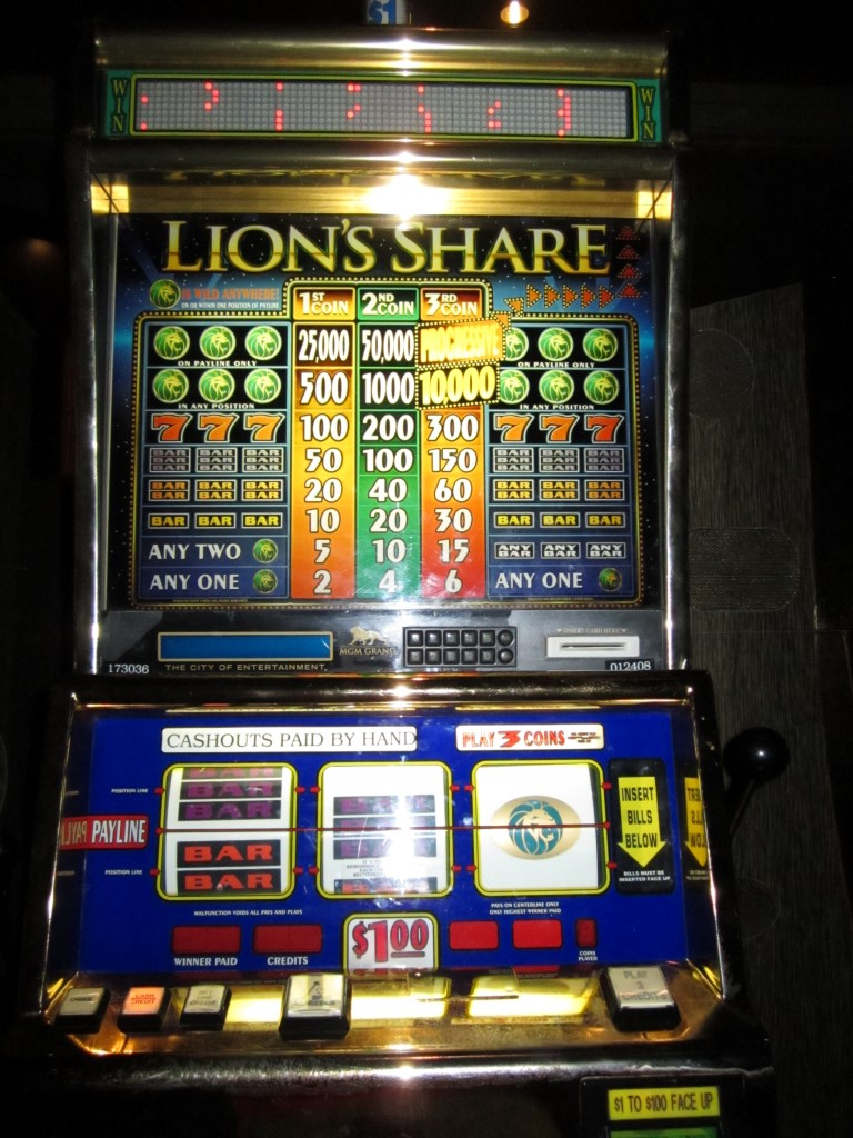 lions share slot machine winner