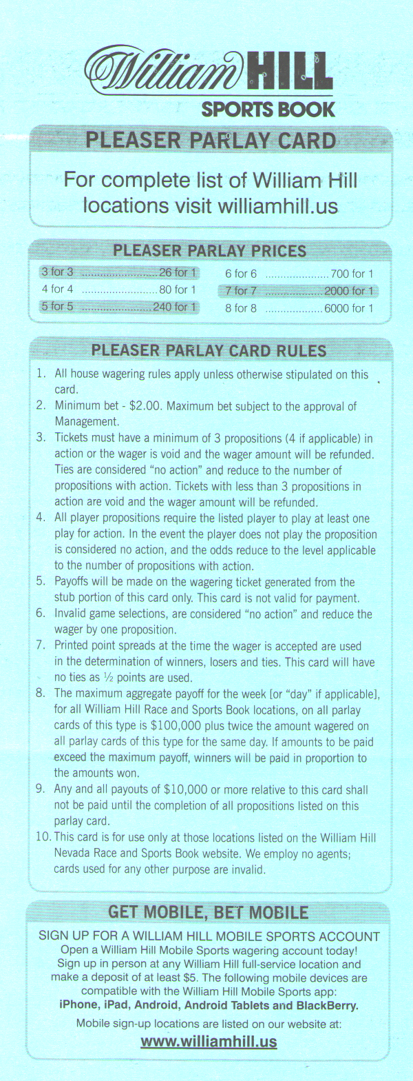 William hill each way betting rules for craps world star betting cyprus air