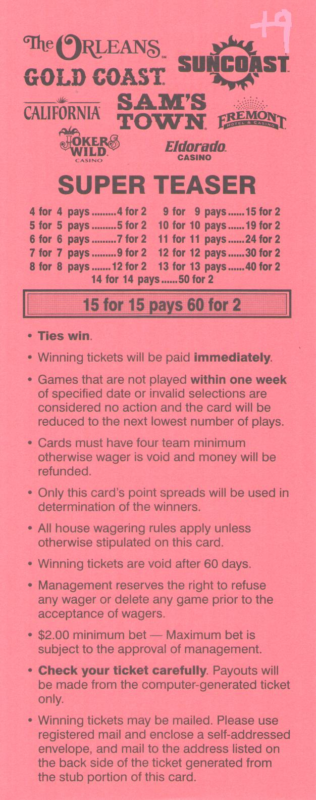 Teasers betting football cards binary options australia taxi