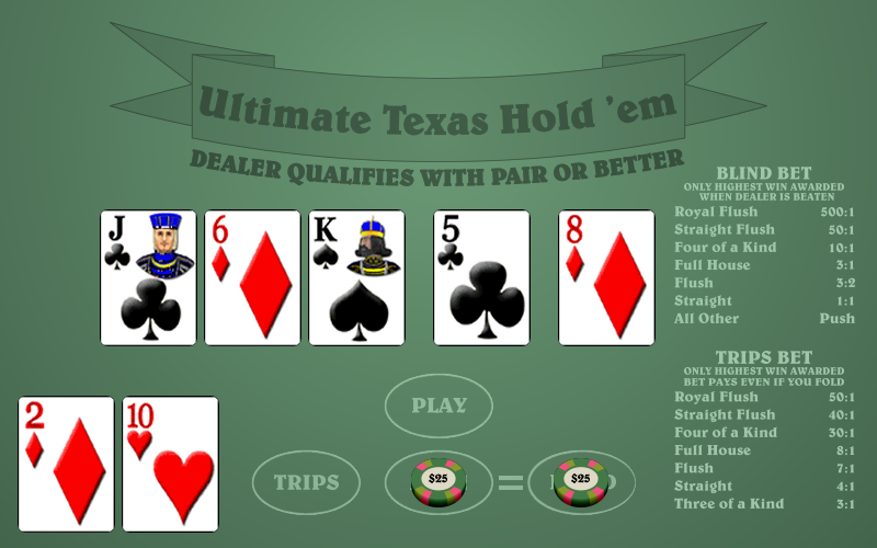 card games texas holdem