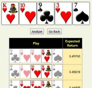 Poker hand analyzer free