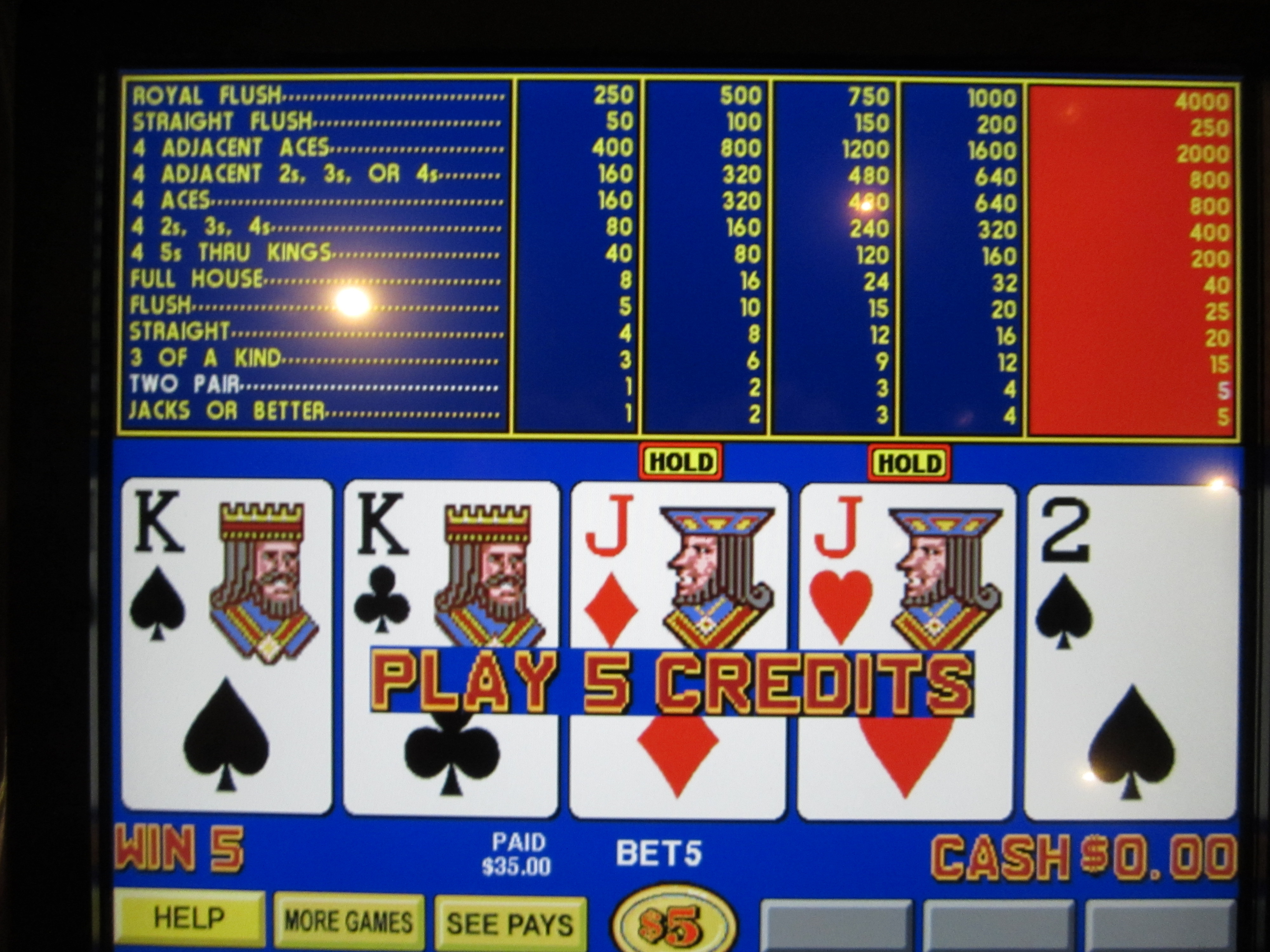 video poker strategy guide
