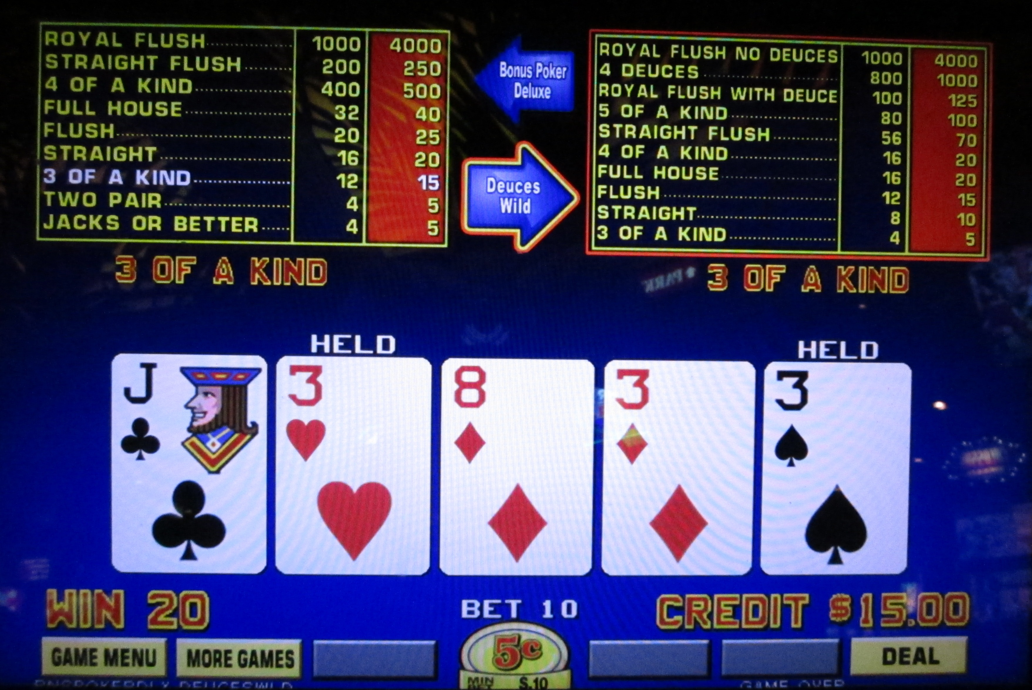 triple play poker strategy