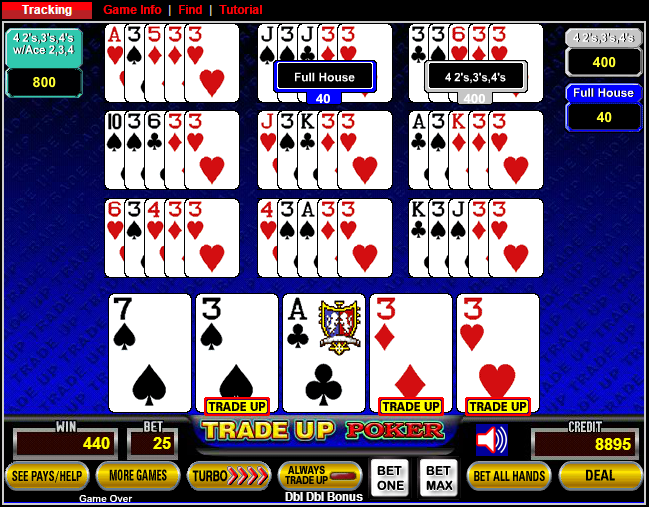 odds of 4 of a kind in poker