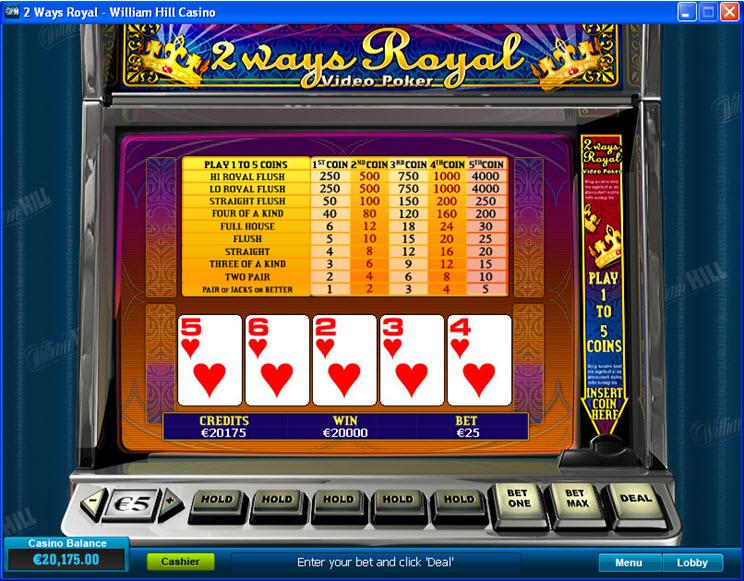 Action gaming video poker