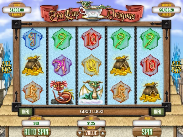 Tea Cup Dragons Slot Machine - Play this Game by RTG Online