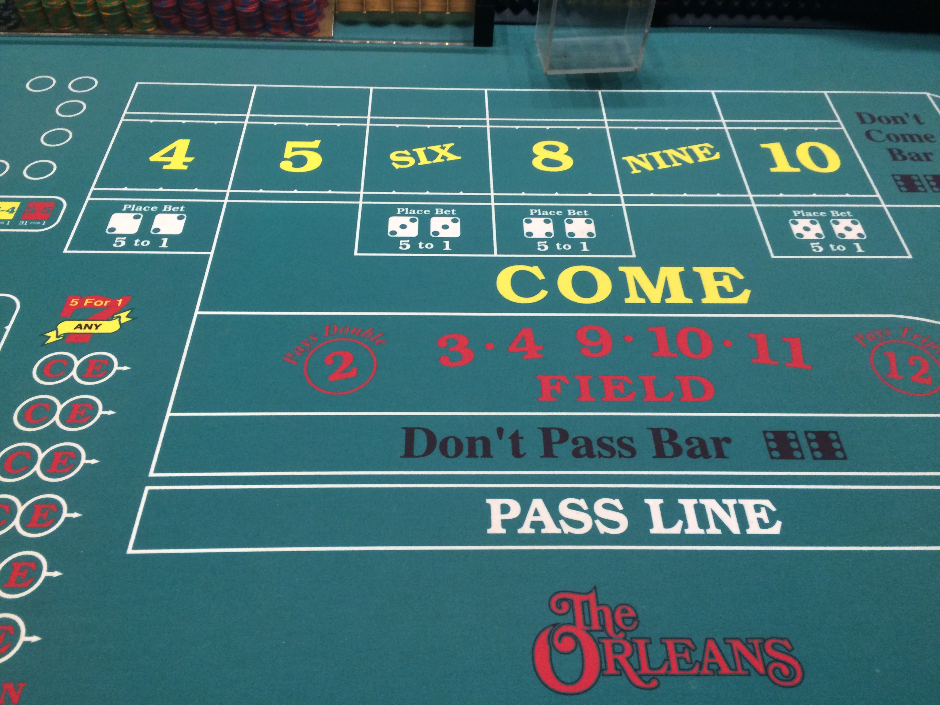 Craps betting terms