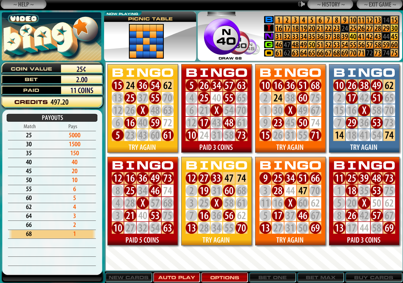 Bingo games at casinos casino jobs in primm nevada
