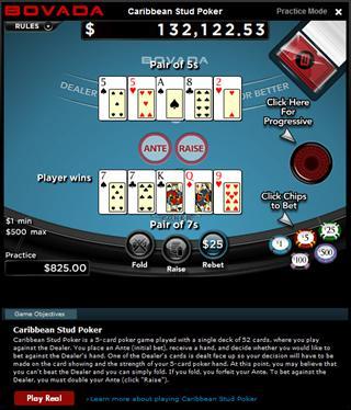 online mobile casino caribbean stud