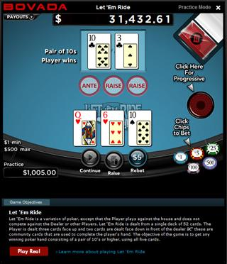 free let it ride poker game bodog betting