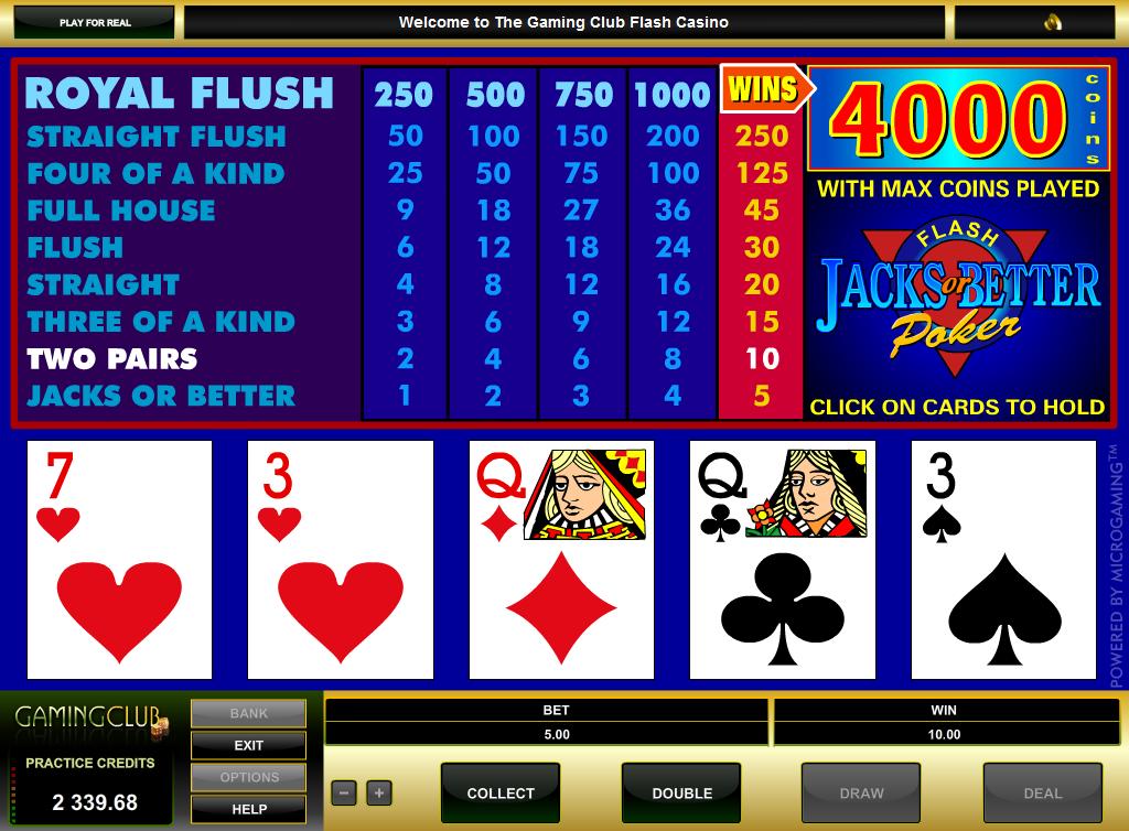 jacks or better poker wizard of odds