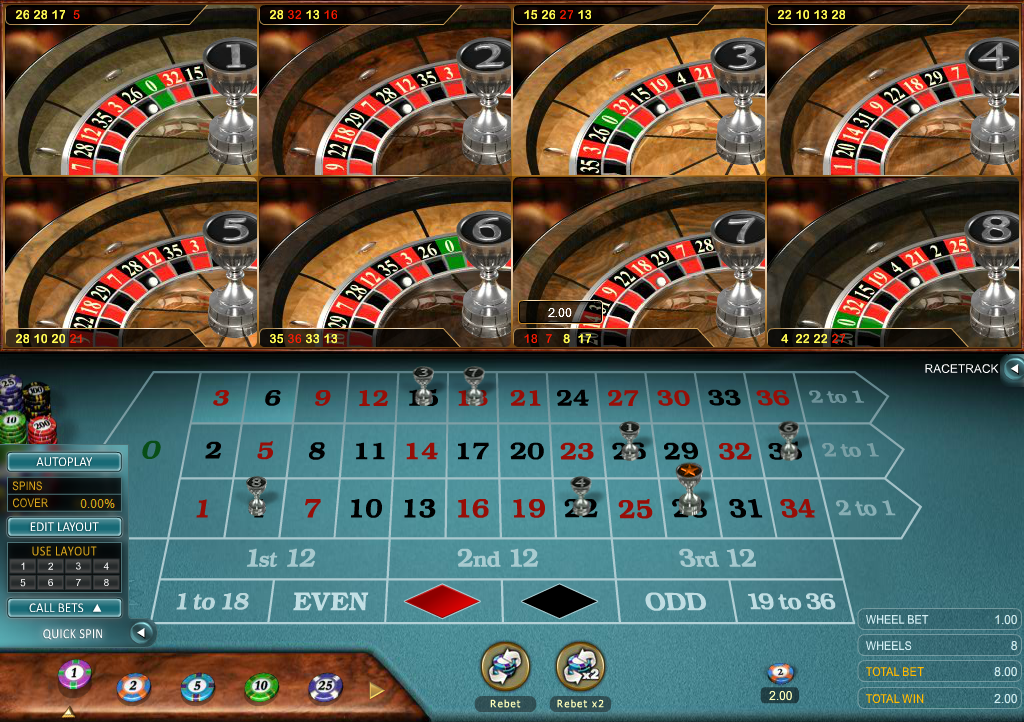 multi roulette online