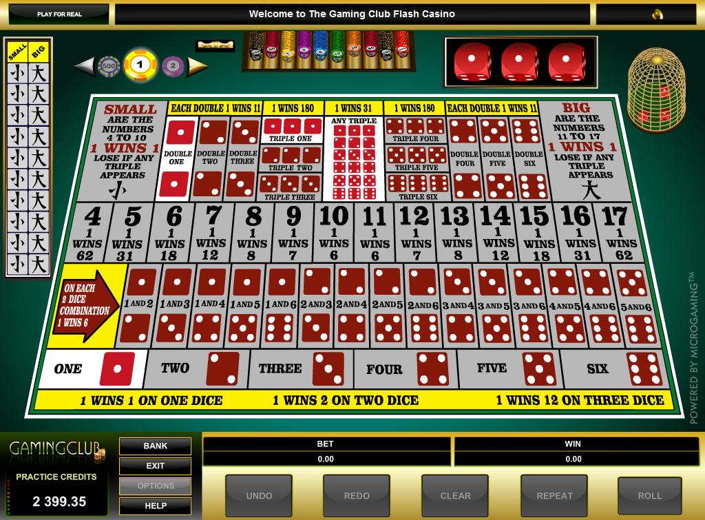 casino poker online sic bo
