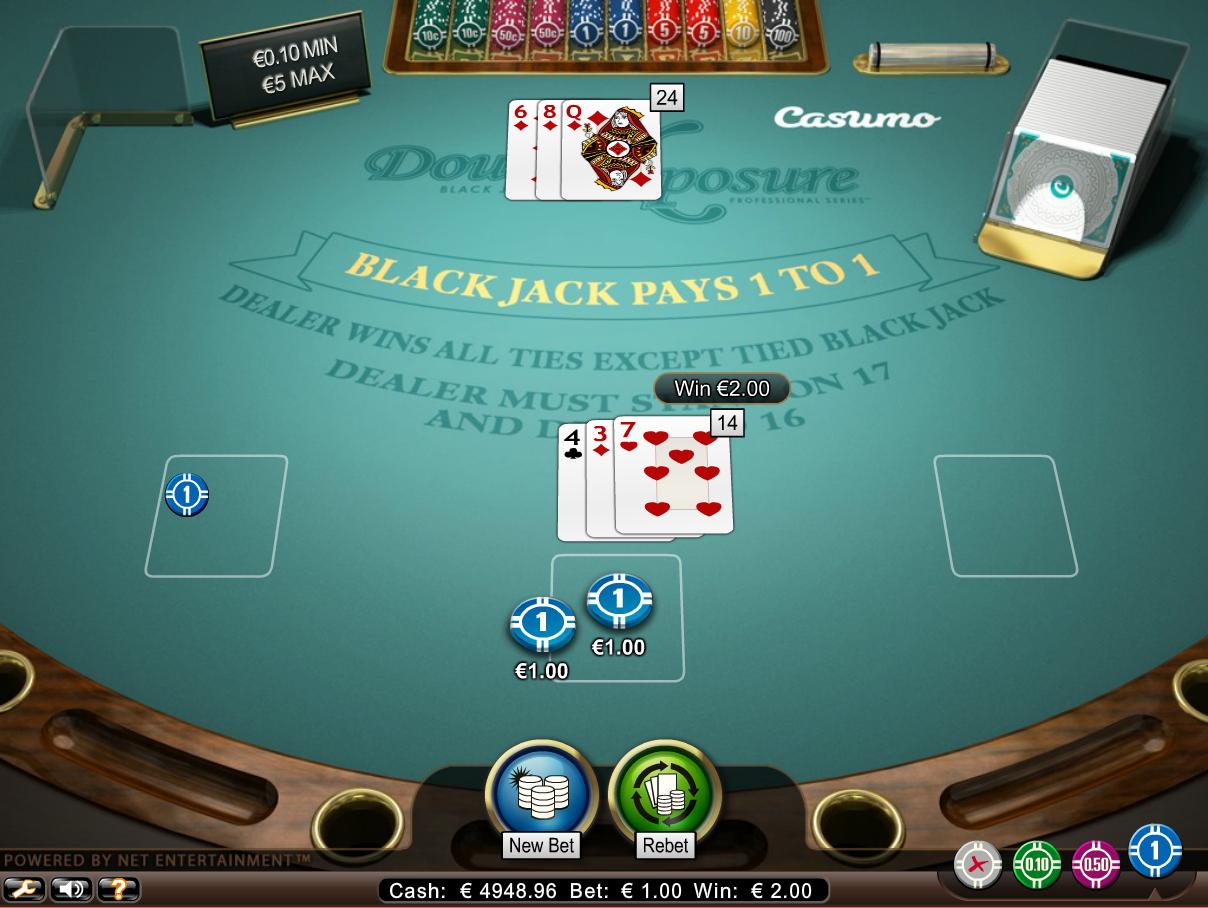 Blackjack ties dealer