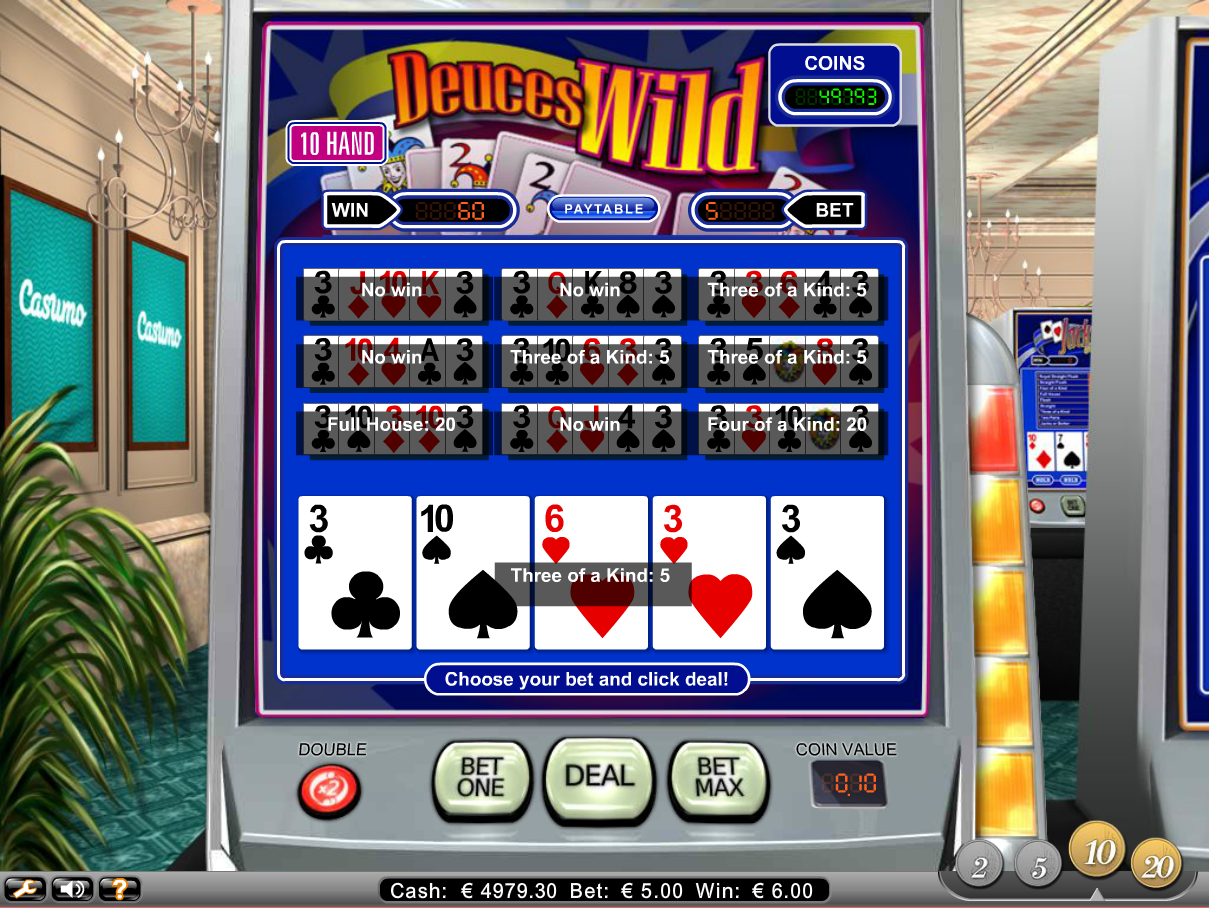 Deuces & Joker Poker Online Video Slots for Real Money