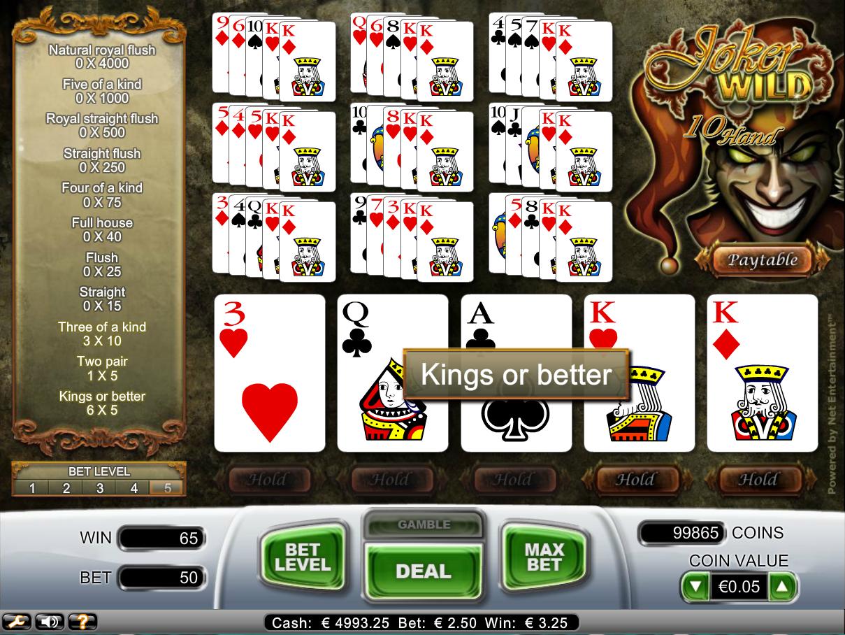 play casino online poker joker