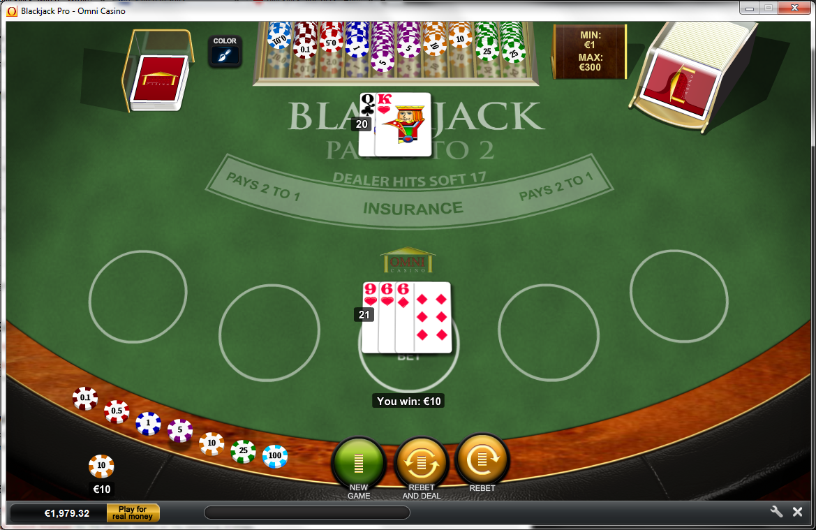 Blackjack after split