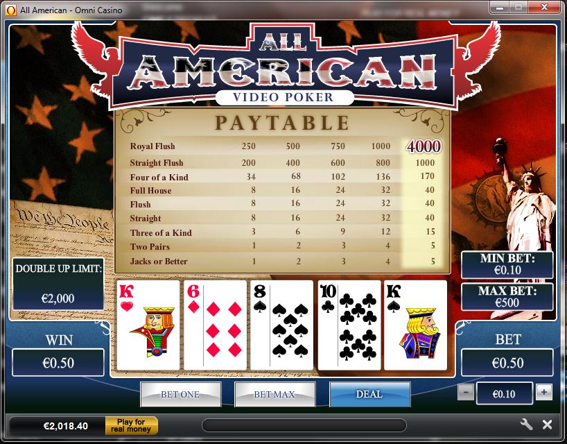 play casino online poker american