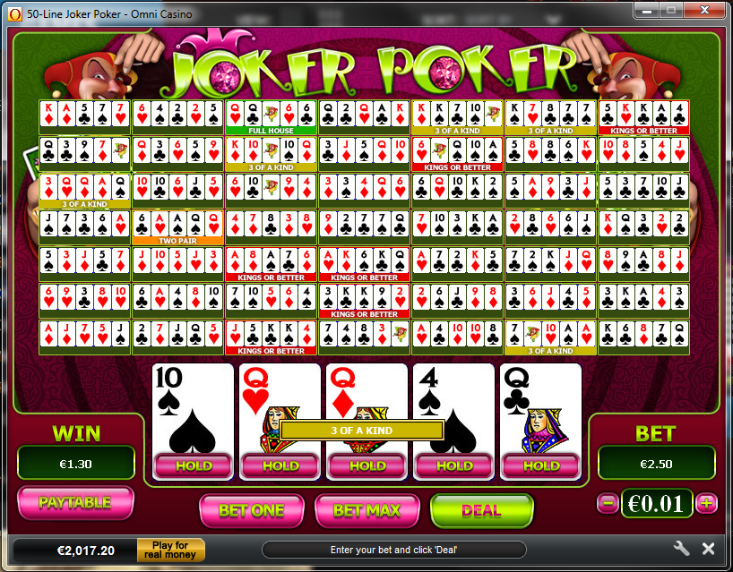 online betting casino joker poker