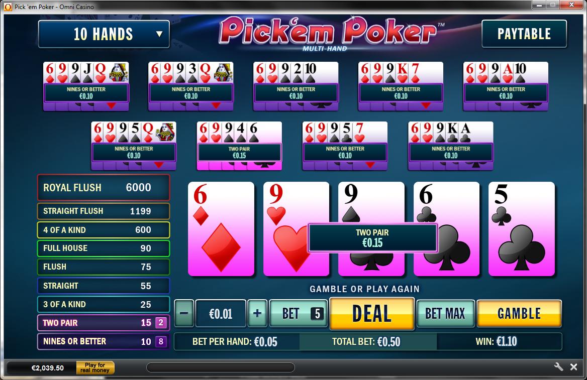 Pick em poker strategy scr888 slot machine