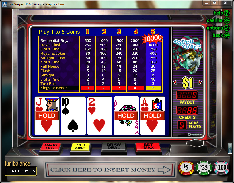 Joker Poker Video Poker - VP legal online spielen OnlineCasino Deutschland
