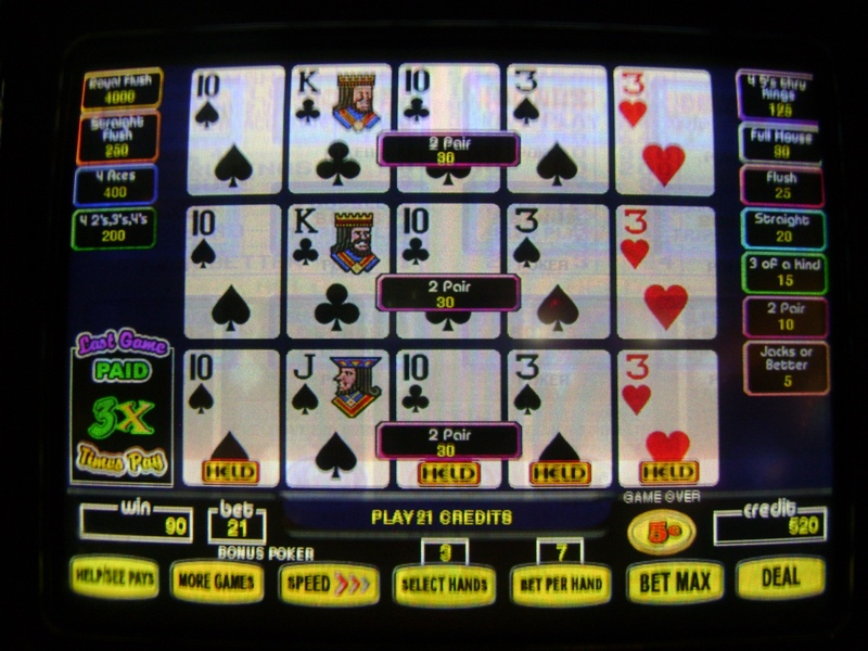 double super times pay video poker