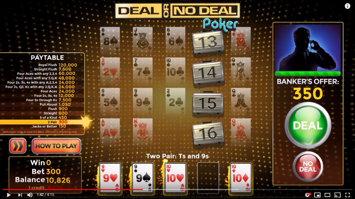 Deal or No Deal Poker