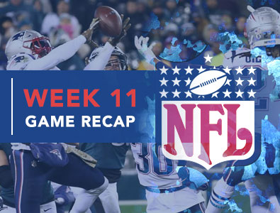 Nfl Games 2020.Summary Of Games From Week 11 Of 2019 2020 Nfl Season