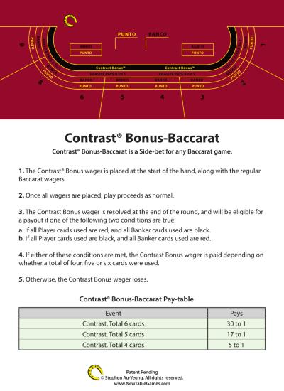 Contrast Bonus Baccarat