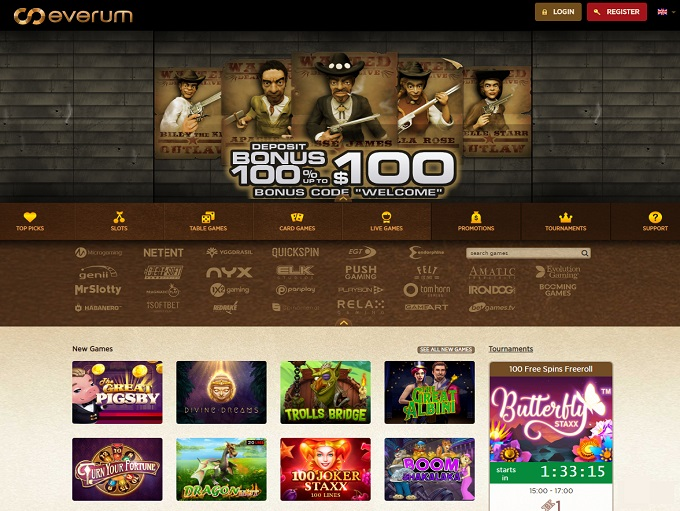 фото Everum casino в бонусы