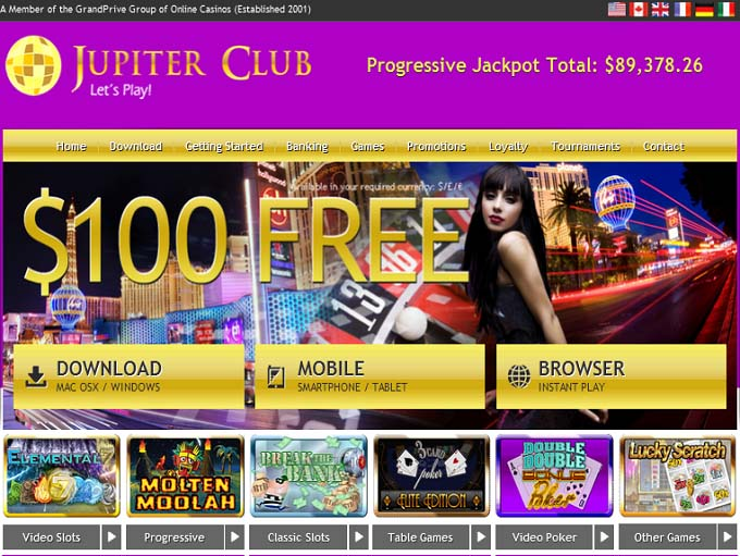 Jupiter Club Casino Download