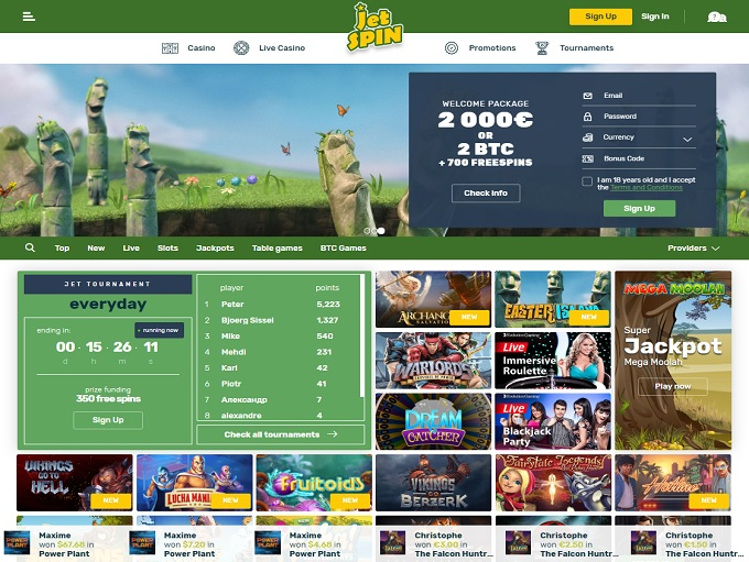 официальный сайт новое онлайн казино jetspin