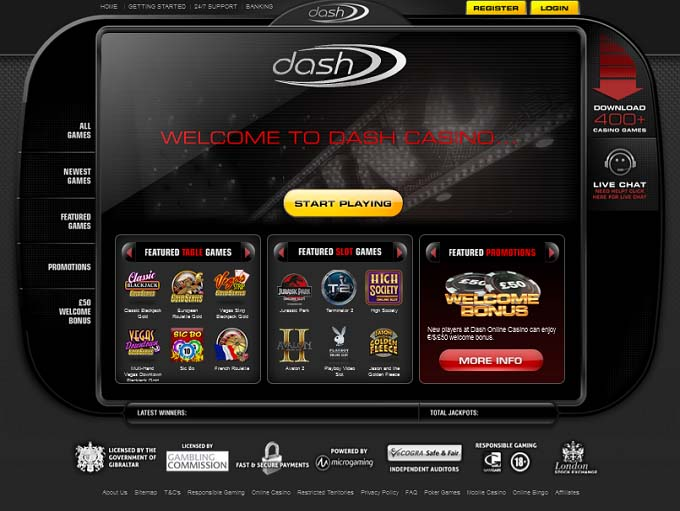 Dash casino what games are at a casino