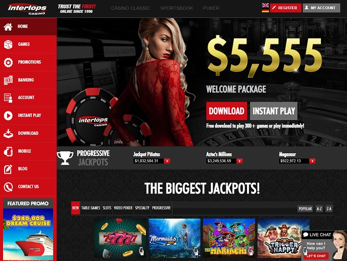 Intertops Red Casino Has The Wizard S Seal In 2021 2 Bonuses