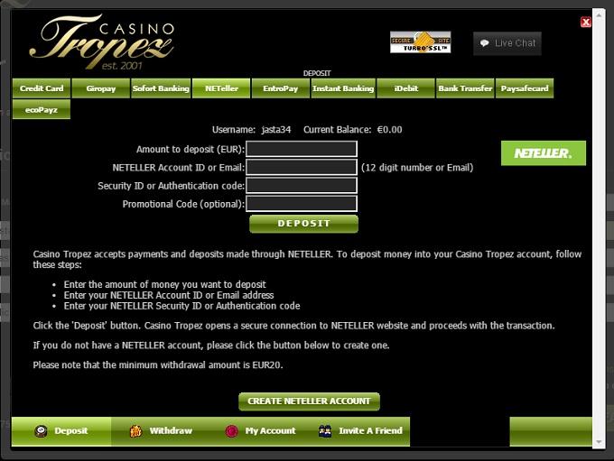 casino tropez код бонуса