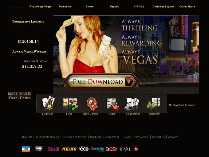 always vegas online casino