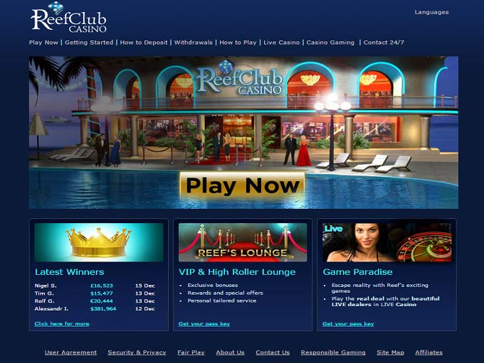 reef club casino software