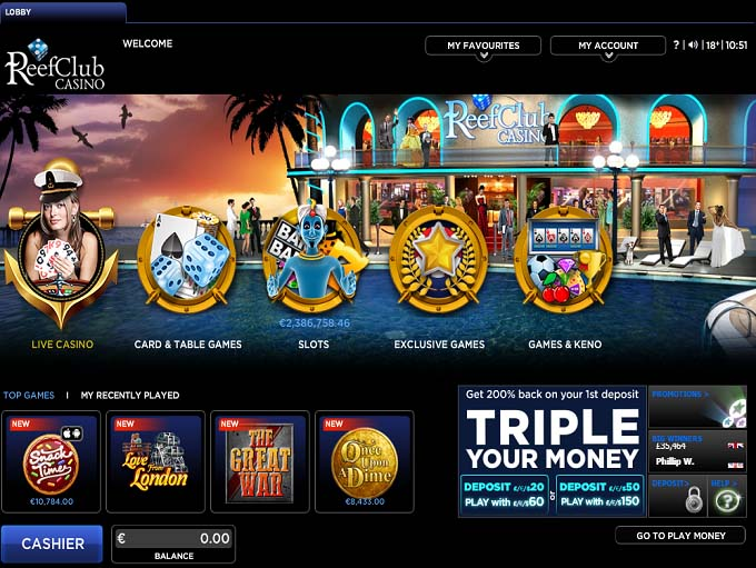 reef club casino instant play
