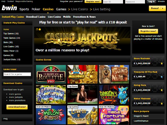 bwin online casino  spielautomaten