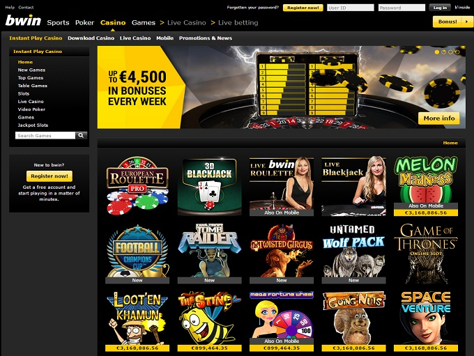 bwin online casino casino and gaming