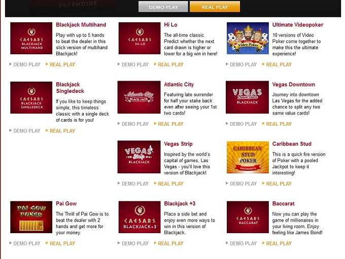 caesars online casino european roulette casino