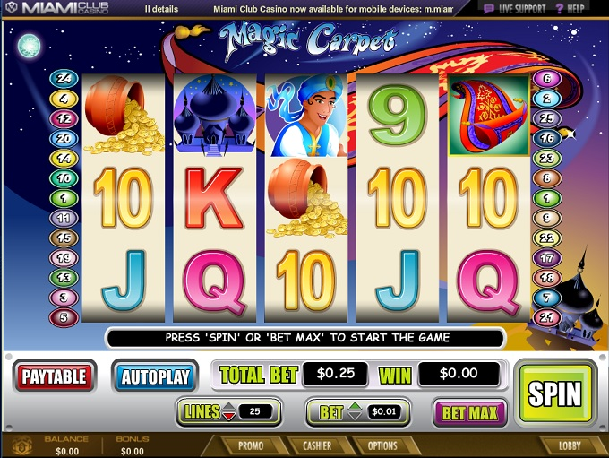 Miami club online casino review the orleans hotel and casino in las vegas