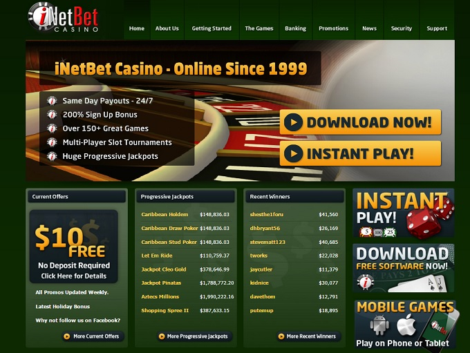 Inet bet casino online casinos accepting credit cards